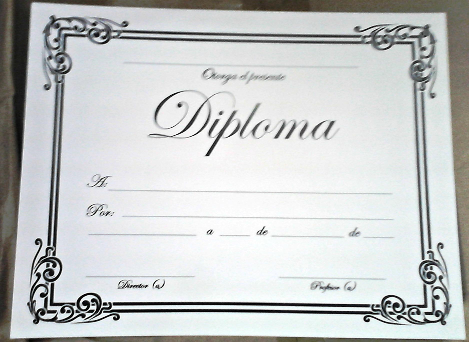 Diploma para rellenar (espirales) | Plaza Mesones